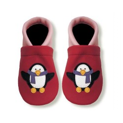 Krabbelschuhe mit Pinguin 1
