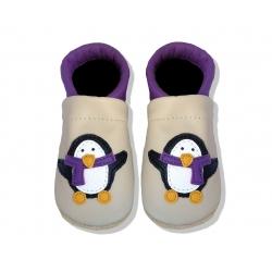 Krabbelschuhe mit Pinguin 3