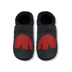 Krabbelschuhe mit Elefant 7