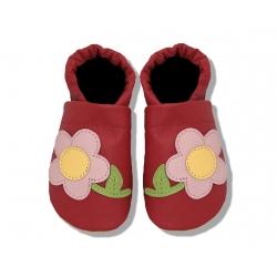 Krabbelschuhe mit Blume und Stiel 3