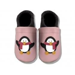 Krabbelschuhe mit Pinguin 4